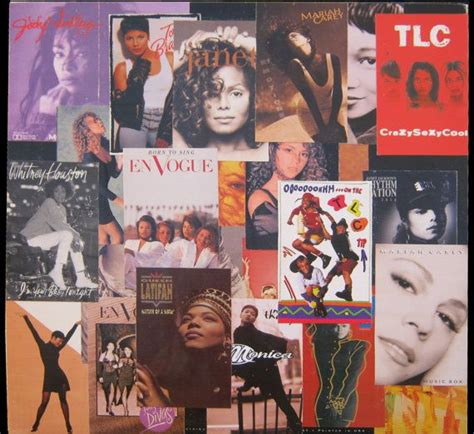The Ladies of 90's R&B Vinyl Record Decoupage | Personal ... R And B Artists 1990s