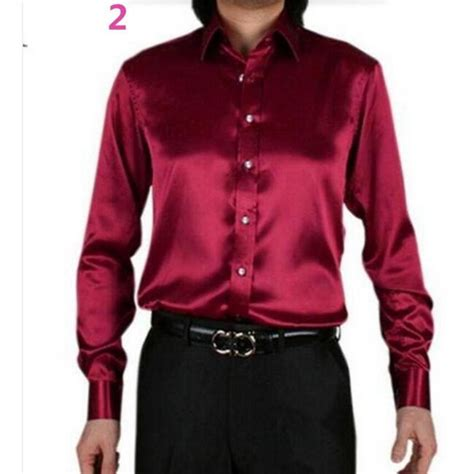 Handmade Dress Shirts - dress shirt custom casual suits silk satin sleeve