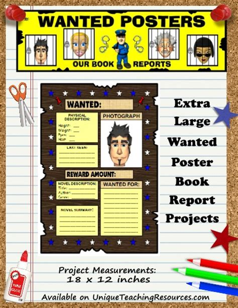 book report wanted poster template design templates posters character wanted poster cereal