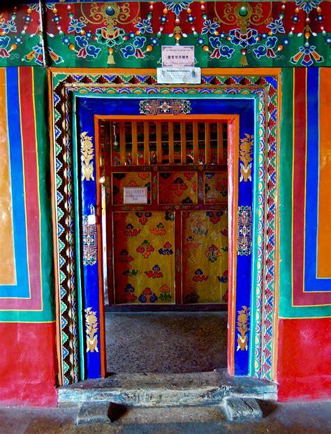 colorful door the doors and windows of tibet s monasteries into the