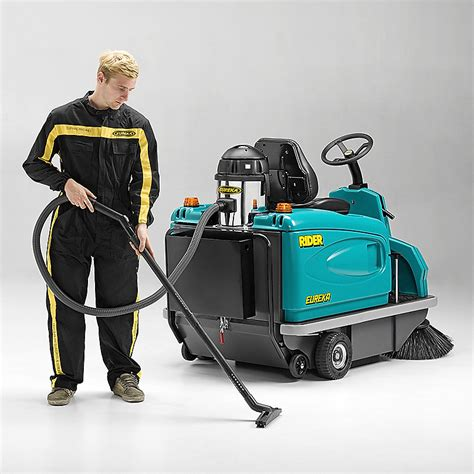 The Buster Ride On Vacuum Cleaner by Rider 1201 Professional Ride On Floor Sweeper Eureka