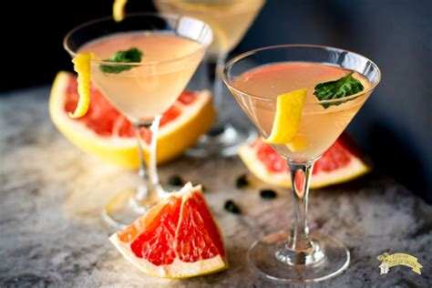 martini grapefruit grapefruit basil martini