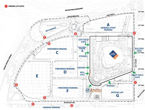 citi field map citi field ny seating chart view