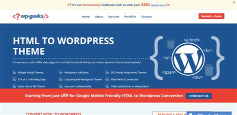 convert html to wordpress theme hire top conversion