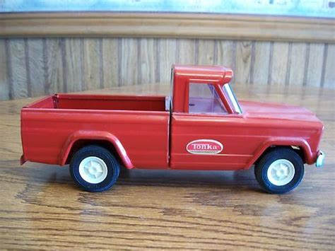 red toy jeep vintage tonka truck red pressed steel jeep pickup 1960 s