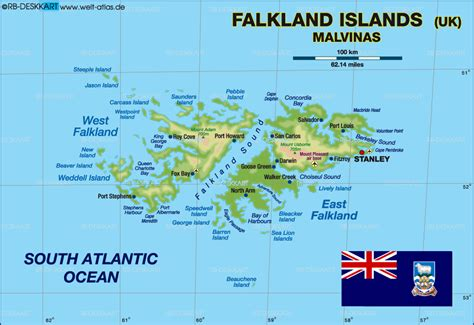 falkland islands on map map of falkland islands united kingdom map in the