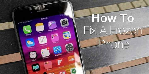 my iphone is frozen how to fix a frozen iphone or