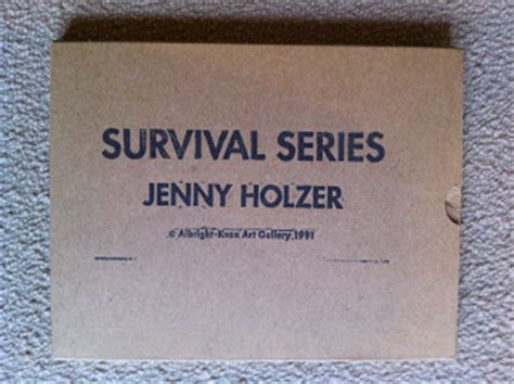 survival stronger series books artists books and multiples holzer survival