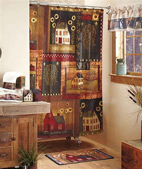 primitive bathroom decor sets ideas