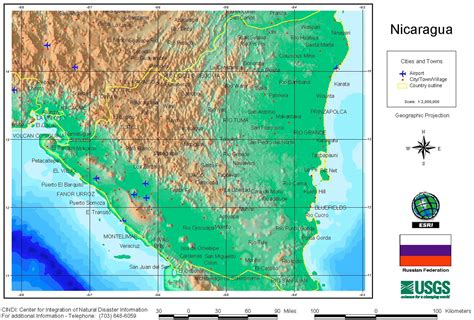 relief map relief map of nicaragua