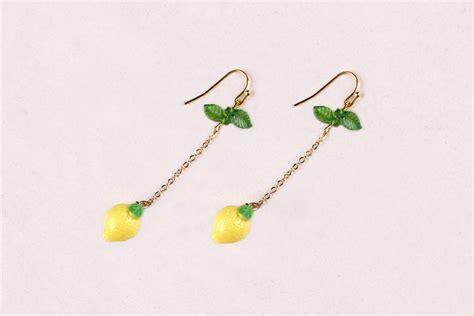 Lemon Earring lemon drop earrings baublebible