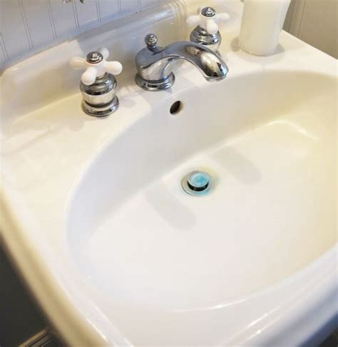 how to remove yellow stains from bathroom sink how to remove hard water stains from acrylic bathtub