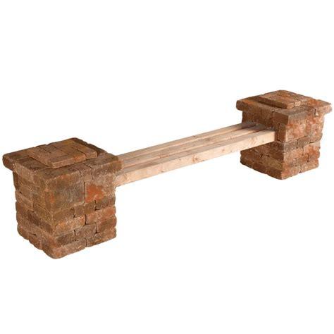 concrete benches home depot pavestone rumblestone rumblestone 103 5 in x 26 2 in