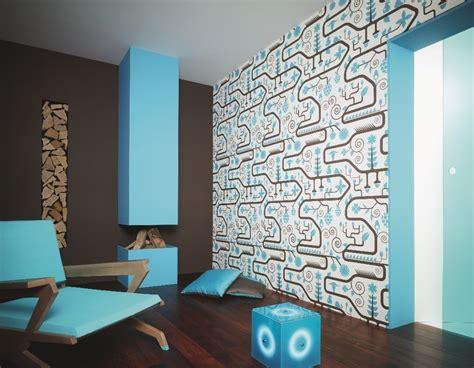 dekor tapete tapete contzen 3 dekor el paraiso blau tapete lars