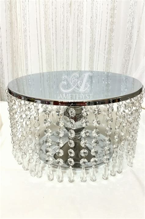 Cake Stand 30cm By Piyoballoon 12 inch 30cm metal crystals cake stand 30diy