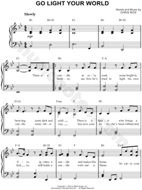 go light your piano sheet chris rice quot go light your quot sheet easy piano