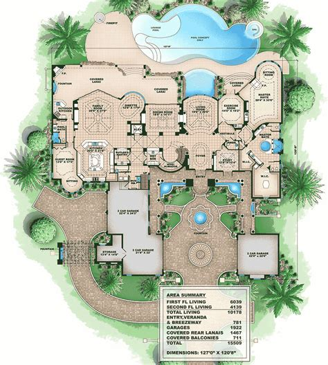 tuscan style floor plans tuscan style mansion 66008we architectural designs