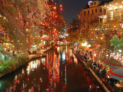 holiday lights on the riverwalk san antonio annual festivals
