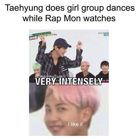 Funny Rap Memes - bts kpop rap monster taehyung bangtanboys namjoon