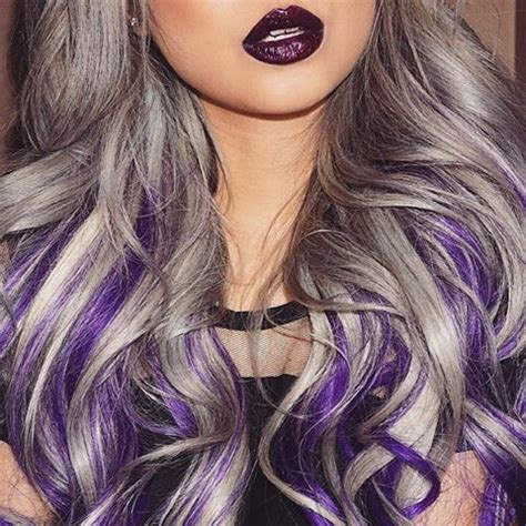 gray purple color rainbow hair extensions hot girls wallpaper