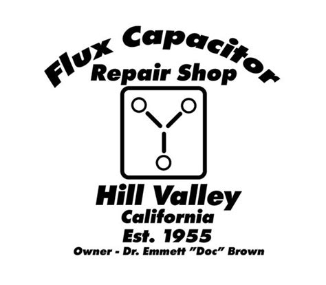 future flux capacitor repair shop svg
