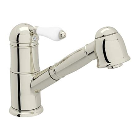 rohl pull out kitchen faucet 2018 rohl a3410lppn 2 polished nickel country kitchen single handle kitchen faucet with pull out
