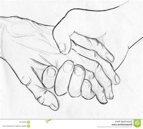 Sketches Holding by Pencil Drawings Of Holding Holding Elderly