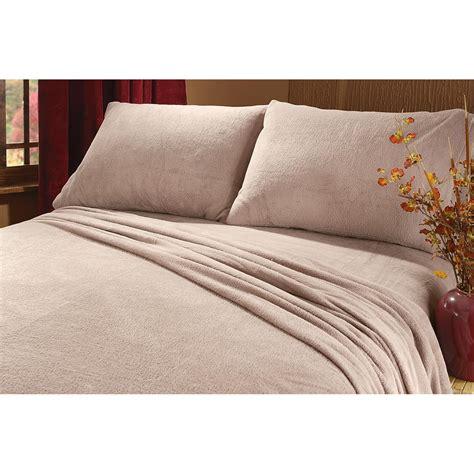 fleece bed sheets cozy plush fleece sheet set 206343 sheets at sportsman