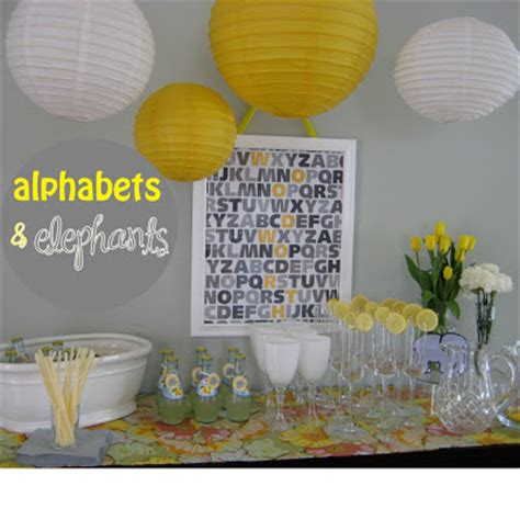 Yellow Elephant Baby Shower Decorations by Yellow And Gray Elephant Baby Shower Oh Creative