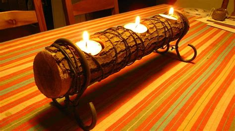 11 log candle holders guide patterns
