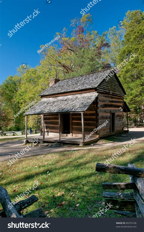 Colonial Cabins Gatlinburg Tn by Colonial Cabin In Great Smoky Mountain National Park Stock