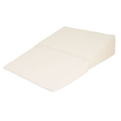bed bath wedge pillow remedy brand pedic folding wedge pillow bed bath beyond