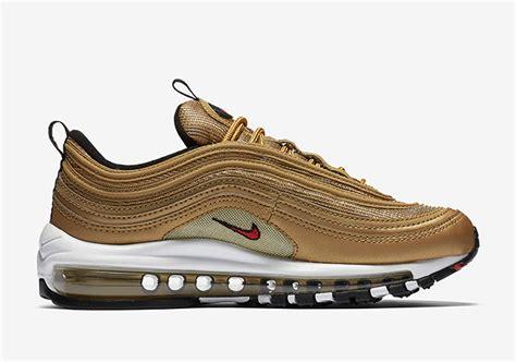 Nike Air Max 97 Gold 2017 nike air max 97 metallic gold 2017 release date sneakerfiles