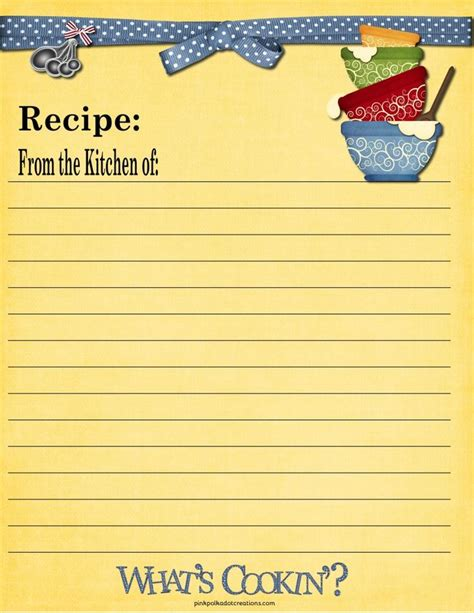 momready templates class recipe book template cookbook
