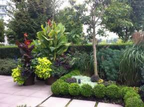 a modern tropical patio garden tropical landscape
