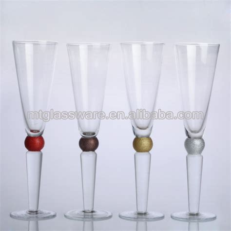 thick stem wine glasses thick stem color bead chagne flute glass products china