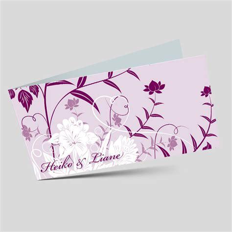Hochzeitseinladung Floral by Hochzeitseinladung Florale Elemente In Lila