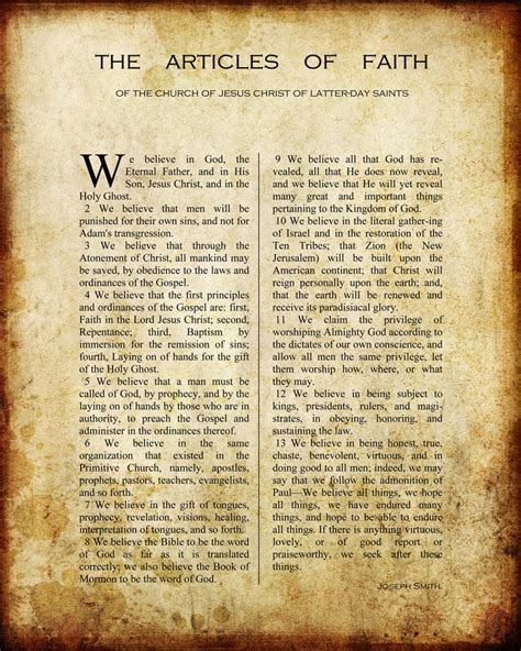 free articles printable vintage articles of faith church stuff