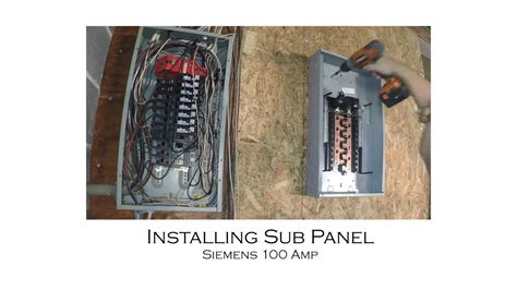 how to install an electric sub panel and tie in to