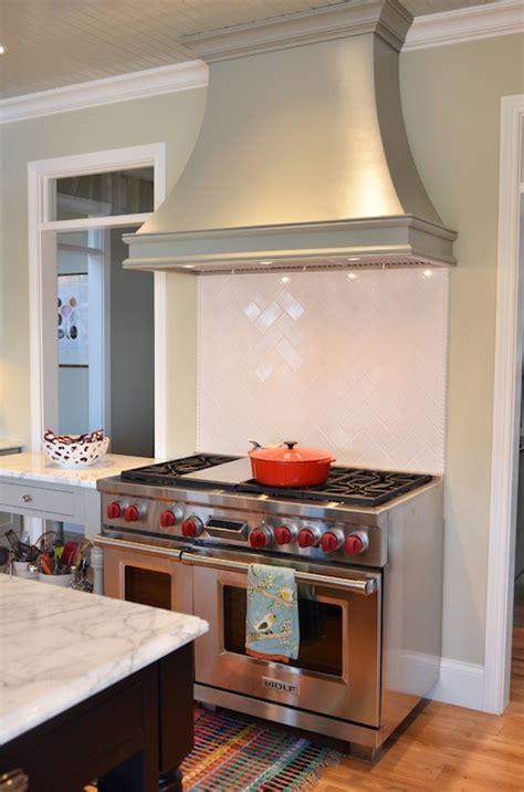Kitchen Paint Range Herringbone Cooktop Backsplash Kitchen