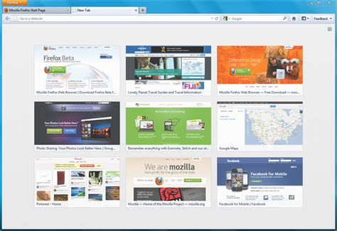 firefox 13 released new tab page and homepage launcher