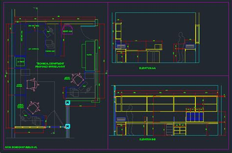 Layout Autocad 3d | office layout autocad 3d cad model grabcad