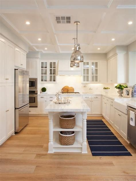 long narrow kitchen with eating island kitchen ideas a pair of polished nickel industrial pendants hang over a