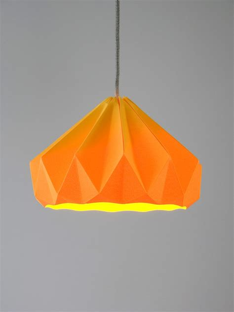 Paper Pendant Shade Chestnut Origami Hanging Paper L Shade Pendant Light Gold Yellow Studios Origami And Paper