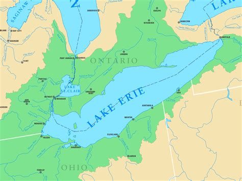 map with cities and rivers map of lake erie with cities and rivers