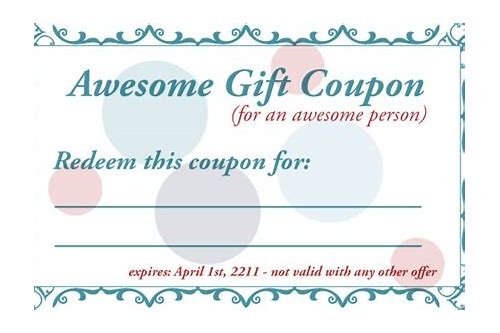 diy printable gift coupons