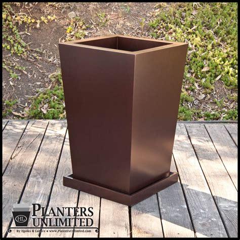 Custom Planter by Custom Planter Set Fiberglass Planter Set Planters