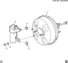 Service Brake System 2004 Gmc Brake Booster Vacuum