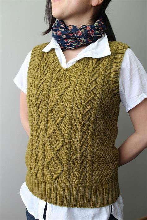 aran vest knitting pattern aran vest knit crochet someday projects