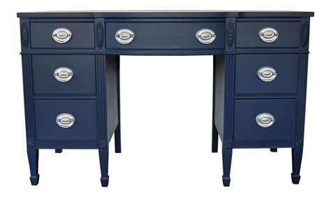 navy blue silver desk chairish